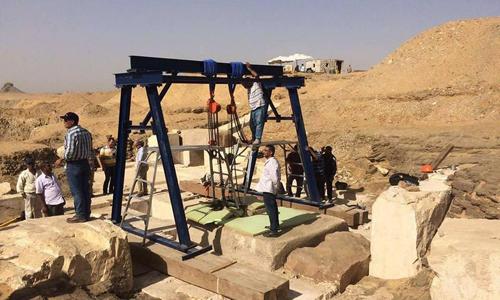 Quang cảnh tại khu vực khai quật. Ảnh: Bộ Cổ vật Ai Cập.
