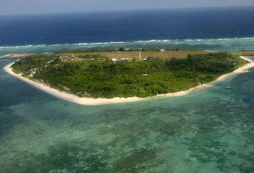 Bãi cạnh tranh chấp Scarborough giữa Trung Quốc và Philippines ở Biển Đông. Ảnh: Philstar
