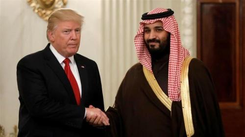 Tổng thống Trump gặp Phó Hoàng Thái tử kiêm Bộ trưởng Quốc phòng Saudi Arabia Mohammed bin Salman