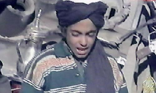 Hamza, con trai út của cựu trùm khủng bố Osama bin Laden. Ảnh: AFP