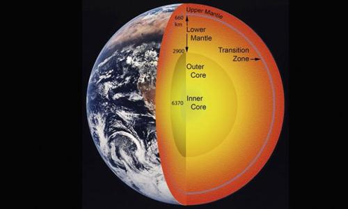 Đồ họa cấu tạo Trái Đất. Ảnh: Reuters.