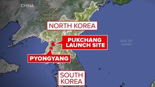 Vị trí Pukchang, nơi Triều Tiên phóng thử tên lửa ngày 21/5. Đồ họa: NBC.