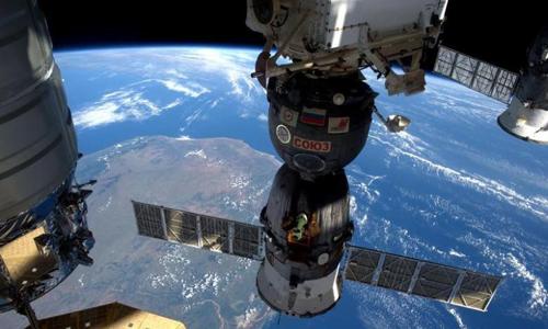 Hình ảnh nhìn từ Trạm vũ trụ ISS. Ảnh: Reuters