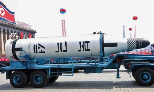 Tên lửa Pukguksong-2 của Triều Tiên. Ảnh: KCNA.