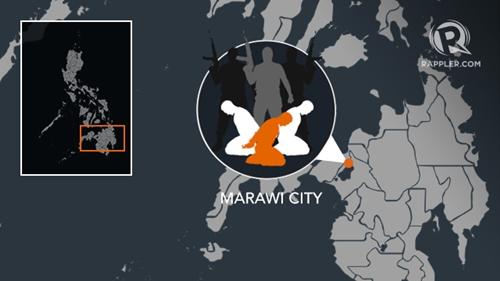 Vị trí thành phố Marawi, Philippines. Đồ họa: Rappler.