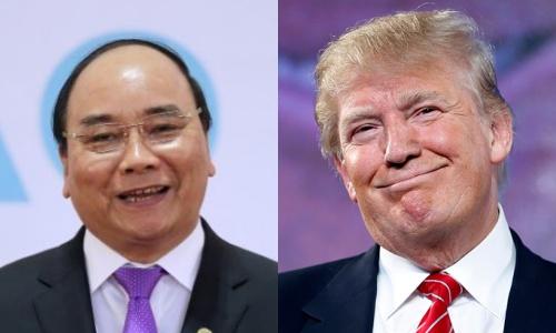 Thủ tướng Nguyễn Xuân Phúc và Tổng thống Mỹ Donald Trump. Ảnh: Reuters, AP