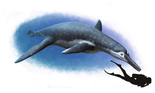 Đồ họa giống Pliosaur to như xe buýt sống từ thời khủng long. Ảnh: