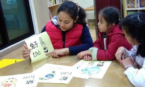 Một buổi học tiếng Việt ở Đài Loan. Ảnh: CNA