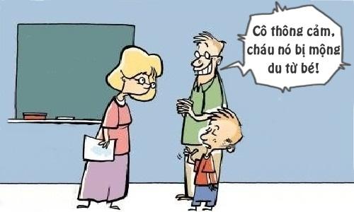 Bố xin lỗi cô giáo vì con trai mộng du
