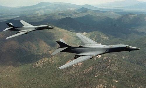 Máy bay ném bom chiến lược B-1B của Mỹ. Ảnh: Reuters
