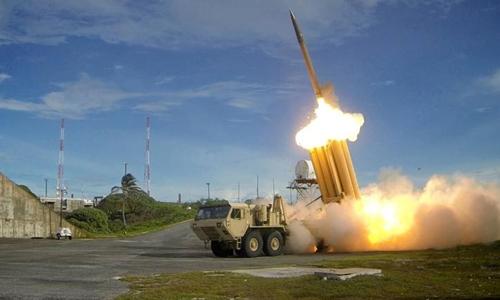 Hệ thống tên lửa THAAD. Ảnh: Reuters.