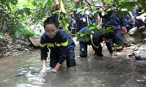 Gần 100 trẻ nhỏ băng rừng bắt cá, học sinh tồn