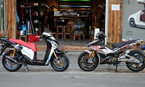 Cặp xế độ 'ngũ quý' của tay chơi Sài thành tại Hà Nội