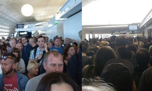 Hình ảnh trên mạng xã hội Twitter cho thấy nhiều người đang ở sân bay Charles de Gaulle. Ảnh: Daily Star