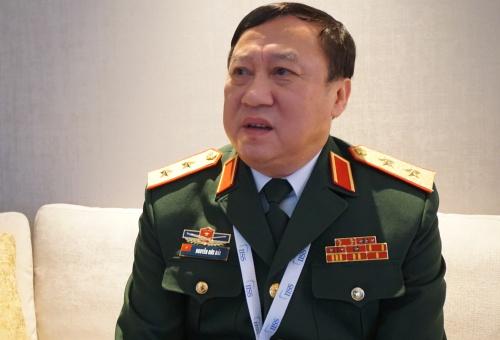 Trung tướng Hải, Viện trước Viện Chiến lược Quốc phòng, trả lời phỏng vấn tại Đối thoại Shangri-La