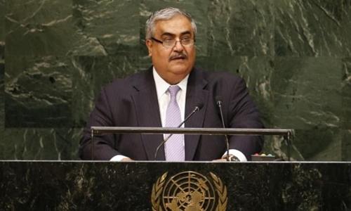 Ngoại trưởng Bahrain Sheikh Khalid Bin Ahmed al-Khalifa. Ảnh: Reuters
