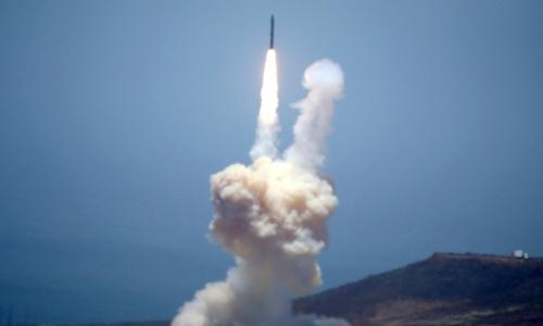 Mỹ thử thành công tên lửa đánh chặn hôm 30/5. Ảnh: NBC News