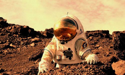 Đồ họa con người trên sao Hỏa. Ảnh: NASA
