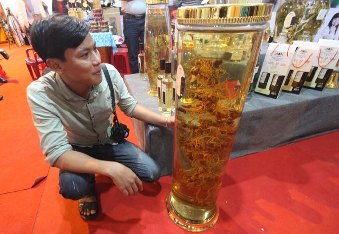Bình rượu sâm Ngọc Linh 200 triệu đồng