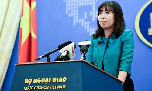 Người phát ngôn Bộ Ngoại giao Lê Thị Thu Hằng. Ảnh: VGP.