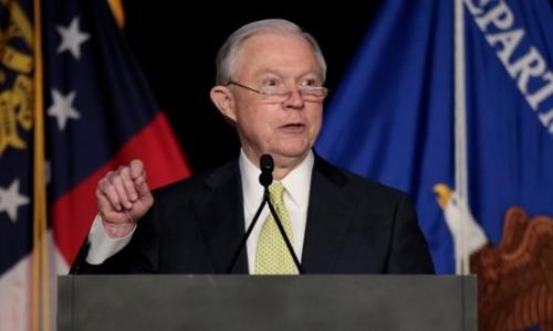 Bộ trưởng Tư pháp Mỹ Jeff Sessions. Ảnh: Reuters.