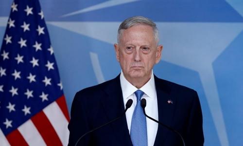 Bộ trưởng Quốc phòng Mỹ Jim Mattis. Ảnh: Reuters