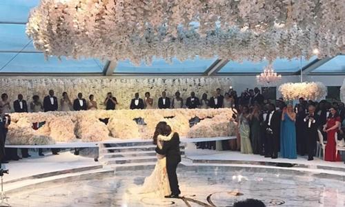 Đám cưới xa hoa của con trai người phụ nữ giàu nhất châu Phi. Ảnh: Mirror