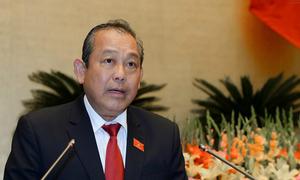 Phó thủ tướng Trương Hòa Bình trả lời chất vấn