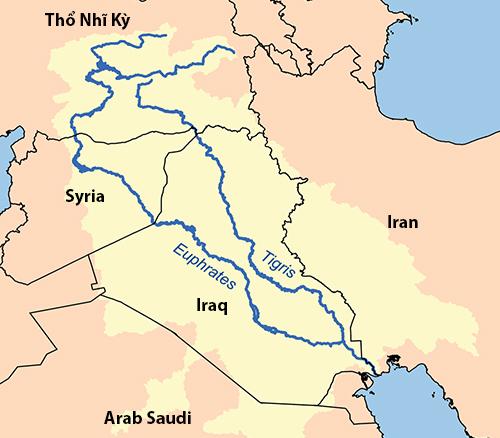 Vị trí sông Euphrates. Đồ họa: Wikipedia.