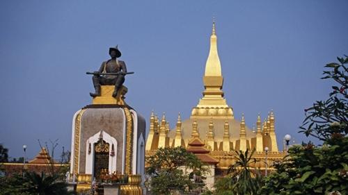 Các tòa nhà ở thủ đô Vientiane, Lào. Ảnh: