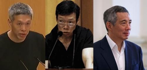 Lý Hiển Dương, Lý Vỹ Linh và Lý Hiển Long. Ảnh: Onlinecitizen