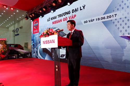 Ông Vũ Mạnh Hùng - Chủ tịch Hội đồng quản trị công ty TNHH AnPhu Automobile phát biểu tại buổi lễ