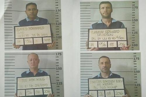4 tù nhân nước ngoài vượt ngục ở Bali. Ảnh: