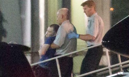 Warmbier được đưa tới bệnh viện sau khi trở về từ Triều Tiên. Ảnh: AP