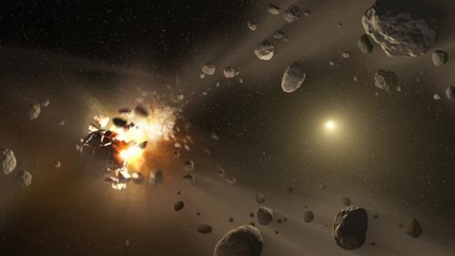 Trong vũ trụ có rất nhiều tiểu hành tinh lang thang. Đồ họa: NASA.