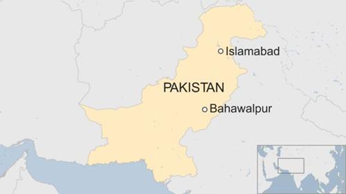 Vị trí thành phố Bahawalpur, Pakistan. Đồ họa: BBC.