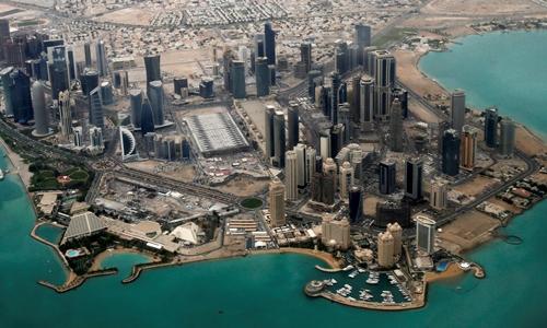 Khu vực ngoại giao ở Doha, Qatar. Ảnh: Reuters.