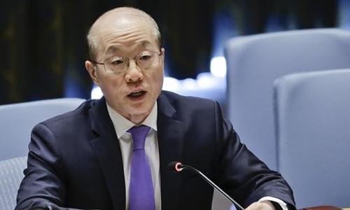Đại sứ Trung Quốc tại Liên Hợp Quốc Liu Jieyi. Ảnh: AP.