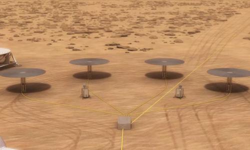 Các lò phản ứng ứng hạt nhân trên sao Hỏa. Đồ họa: NASA.