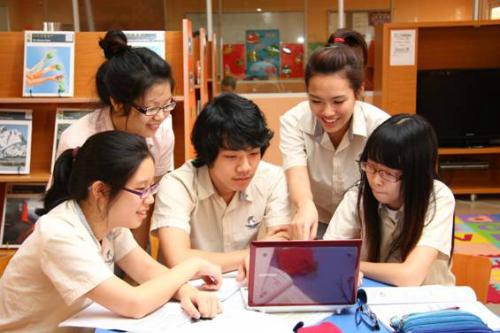 Tiết học nhóm của học sinh SIS.