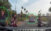 Ôtô tự chạy gần trăm mét vì tài xế lo cãi nhau sau va chạm