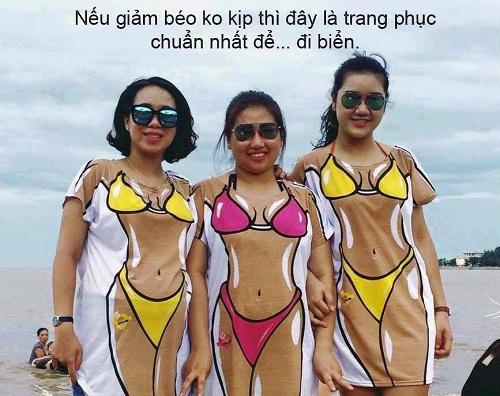 Trang phục đi biển cho các cô nàng mũm mĩm.