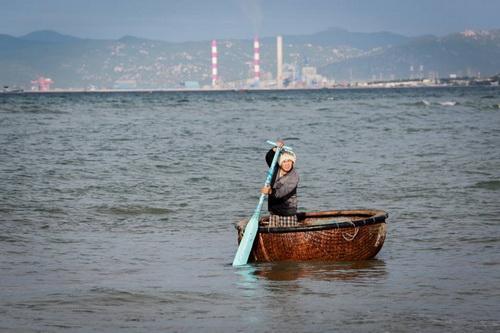 Vùng biển Vĩnh Tân, nơi được cấp phép nhận chìm một triệu vật, chất. Ảnh: Tiên Thành