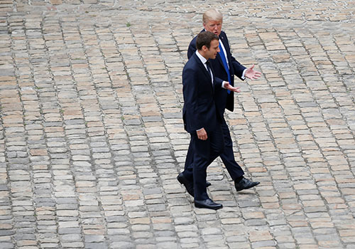 macron-noi-trump-co-the-doi-y-ve-hiep-dinh-bien-doi-khi-hau