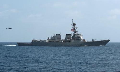 Tàu khu trục USS Mason của Mỹ. Ảnh: Reuters.