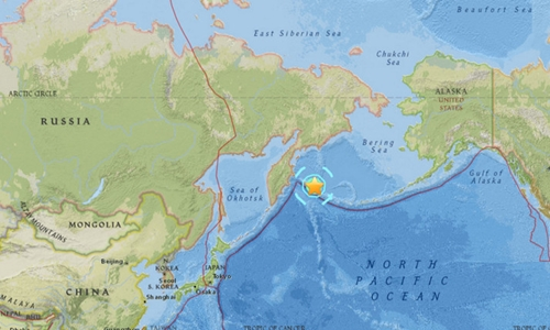 Vị trí trận động đất. Đồ họa: USGS.