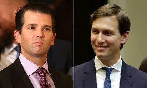 Donald Trump Jr. (trái) và Jared Kushner. Ảnh: Reuters.