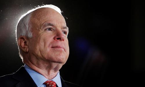 Thượng nghị sĩ Mỹ John McCain tại Denver, Colorado năm 2008. Ảnh: Reuters.