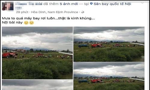 Tung tin đồn máy bay rơi ở Nội Bài để câu 'like' bán hàng
