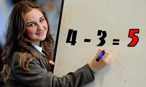 Khi nào 4 - 3 = 5?